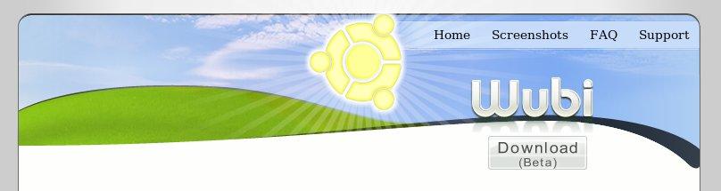 Grâce à Wubi, le soleil ubuntero éclaire les pâturages Windows.