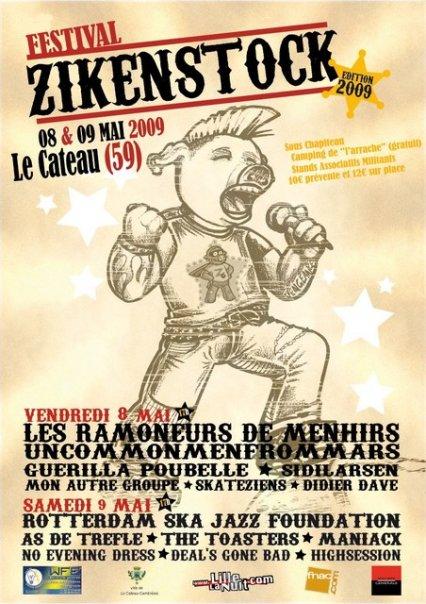 Affiche Zikenstock 2009